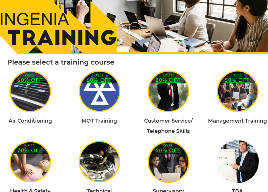 HUGE SALE on Training Courses